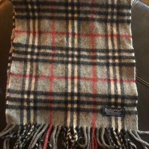 Burberry's Nova Check plaid scarf